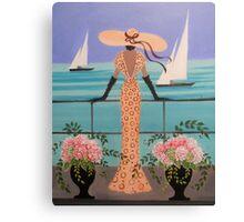 LADY ON A BALCONY Canvas Print
