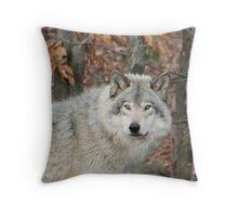 Timberwolf. Throw Pillow