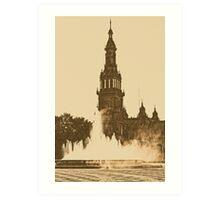 Sevilla - Plaza de Espana  Art Print