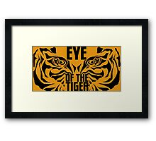 The eye of the tiger. Framed Print
