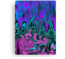 Blues and pink Canvas Print
