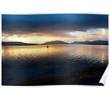 Sunset seen from Rothsay on the Island of Bute in Scotland Poster