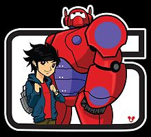 Hiro and Baymax by lylestylez