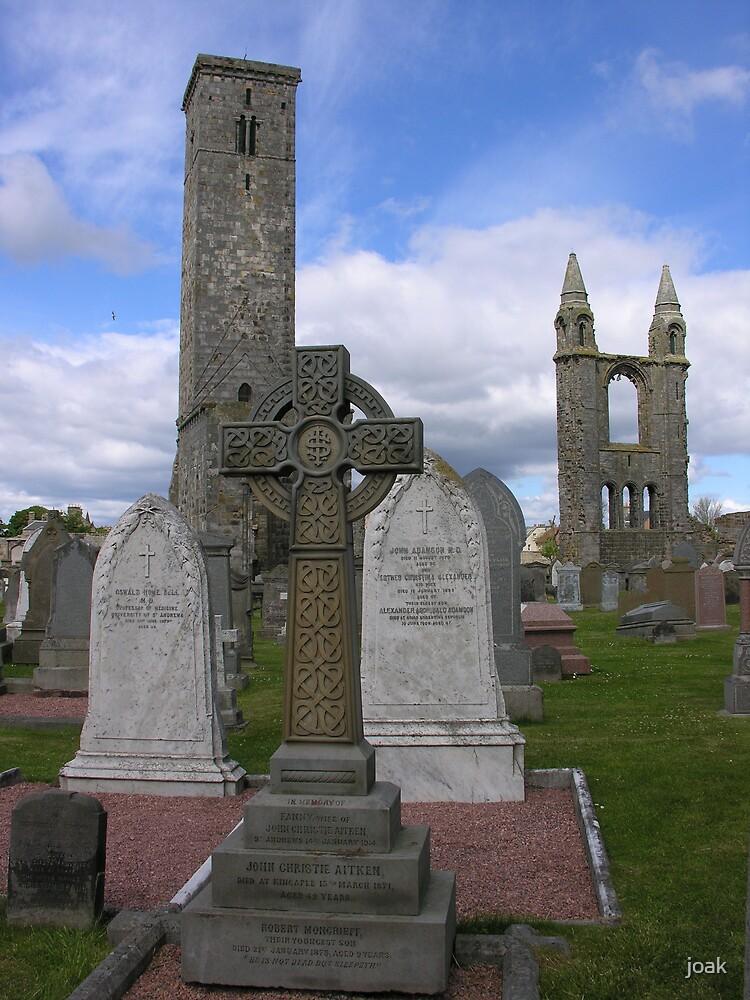 celtic cross at st andrews by joak