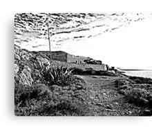 Island Caprera: military archeology and acacia Canvas Print
