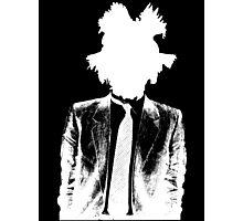 Jean Michel Basquiat SIL WHT Photographic Print