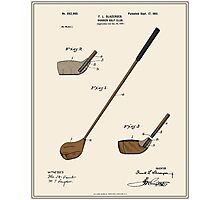 Golf Club Patent - Colour Photographic Print