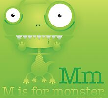M is for Monster. by bigbraingirl