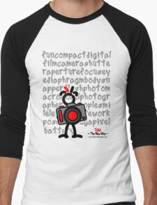 Red - The New Guy - funcompactdigitalcamera .. Men's Baseball ¾ T-Shirt