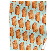 Strawberry Shortcake Popsicle Pattern Poster