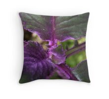 Poni Purple Throw Pillow