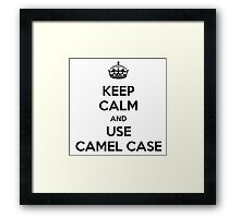 keep calm and use camel case Framed Print