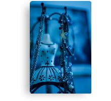 Fashion Accessories and dummies in blue  Canvas Print