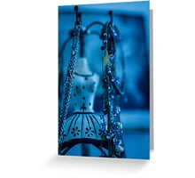 Fashion Accessories and dummies in blue  Greeting Card