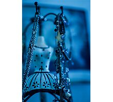 Fashion Accessories and dummies in blue  Photographic Print