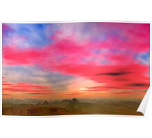 Badlands Sunset Poster