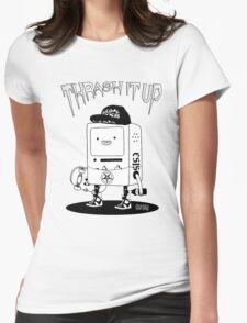ThrashMO black and white Womens Fitted T-Shirt