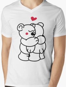 Teddys in love Mens V-Neck T-Shirt