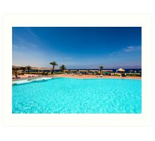 Tala Bay, Aqaba, Jordan. Luxury Beach Resort Art Print
