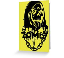 Zomby Greeting Card