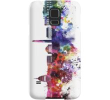 Washington DC skyline in watercolor on white background  Samsung Galaxy Case/Skin