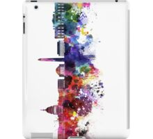 Washington DC skyline in watercolor on white background  iPad Case/Skin