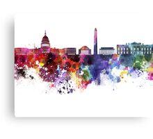 Washington DC skyline in watercolor on white background  Metal Print