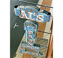 Al's Pawn Shop Photographic Print