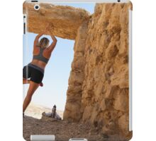 Woman worksout in ancient ruins in the desert  iPad Case/Skin