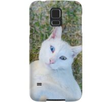 White cat with blue eyes  Samsung Galaxy Case/Skin