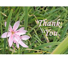 Pink Flower Thank You Photographic Print