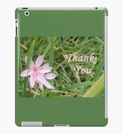 Pink Flower Thank You iPad Case/Skin