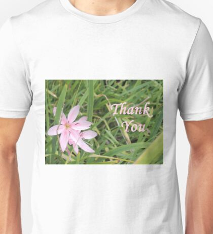 Pink Flower Thank You T-Shirt