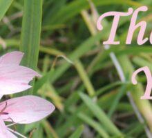 Pink Flower Thank You Sticker