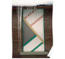 Icicles (3) - In Front of Architectural Design Off Red Brick Bldg. Poster
