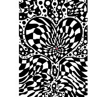 Psychedelic optical art Valentine's Day design Photographic Print