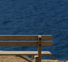 Bench by the Sea Sticker