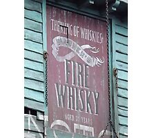 Fire Whisky Photographic Print