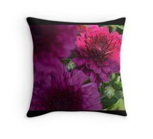 purple flower low key  Throw Pillow