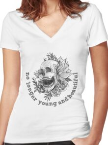 young and beautiful Women's Fitted V-Neck T-Shirt