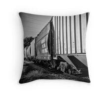 Train Cars Throw Pillow