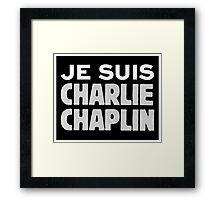 Je Suis Charlie Chaplin Framed Print