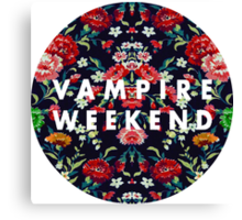 Vampire Weekend Mirrored Canvas Print