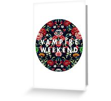 Vampire Weekend Mirrored Greeting Card