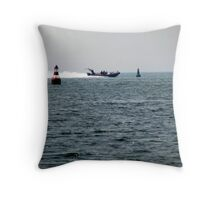 Power Boat Throw Pillow