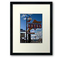 santa fe motel Framed Print