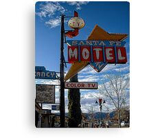 santa fe motel Canvas Print