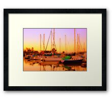 Colours of Gold Framed Print
