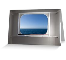 QM 2 porthole Greeting Card