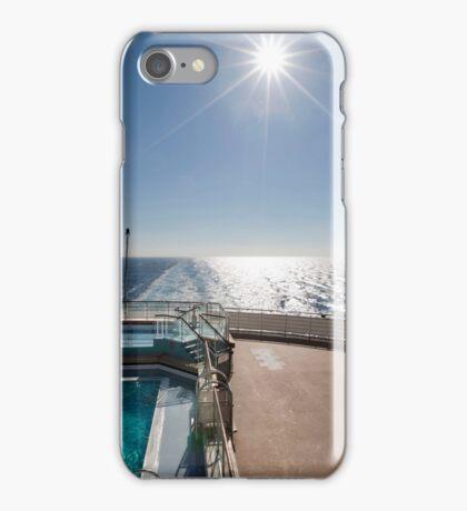 QM2 at sea iPhone Case/Skin